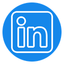 Color, Circle, linkedin icon DodgerBlue icon