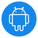 phone, Android, smartphone, media, network, Multimedia, social icon DodgerBlue icon