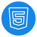 Html5 icon, Html 5 DodgerBlue icon