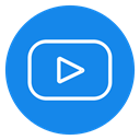 video, player, subscribe, Logo, Channel, tube, youtube icon DodgerBlue icon
