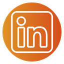 Color, Circle, linkedin icon Chocolate icon