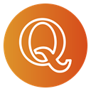 red, question, modern, Quora, social icon Chocolate icon