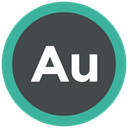 Extension, adobe, adobe audition, format icon DarkSlateGray icon