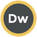 Extension, adobe, format icon, dreamweaver DarkSlateGray icon