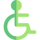 Access, wheelchair, Disabled, hospital, disability, handicap, Tools And Utensils Black icon
