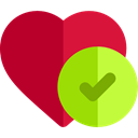 Apple, Heart, love, Fruit, diet, Health Care Firebrick icon
