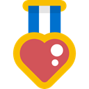 award, medal, winner, Champion, Awards, Heart Shaped, Sports And Competition Black icon