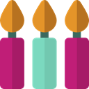 birthday, light, illumination, Candles, candlestick, Tools And Utensils MediumVioletRed icon
