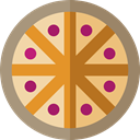 Fast food, sliced, Italian Food, food, Pizza RosyBrown icon