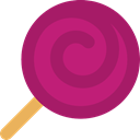 food, sugar, Dessert, sweet, Lollipop MediumVioletRed icon