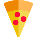 food, Pizza, Fast food, junk food, Pizzas, Italian Food, Unhealthy, Food And Restaurant SandyBrown icon