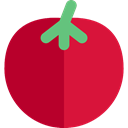 food, Fruit, organic, diet, Tomato, vegetarian, vegan, Healthy Food, Food And Restaurant Crimson icon