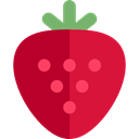 food, Fruit, strawberry, organic, diet, vegetarian, vegan, Healthy Food, Food And Restaurant Crimson icon