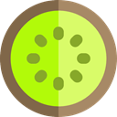 food, Fruit, organic, diet, Kiwi, vegetarian, vegan, Healthy Food, Food And Restaurant GreenYellow icon