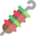 Barbecue, Skewer, Kebab, Food And Restaurant, food, grill, meat Icon