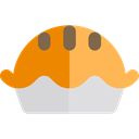 Bakery, protein, Food And Restaurant, pie, food, meat Black icon
