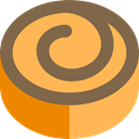 food, Dessert, sweet, Bakery, Cinnamon Roll, Food And Restaurant SandyBrown icon