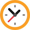 Circular Clock, time, watch, timer, technology, clocks Icon