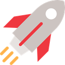 transportation, transport, Space Ship, Rocket Ship, Rocket Launch Silver icon