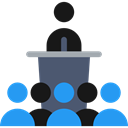 Users, group, people, Presentation, Conference, men Black icon