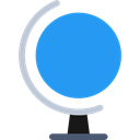 Earth Globe, World Grid, Globe Grid, Business And Finance, education, Geography, Planet Earth DodgerBlue icon
