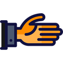 Hand Gesture, Business And Finance, friends, Handshake, friendly, Gestures, Shake Hands Black icon