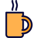 tea, food, steam, drinks, coffee cup, Coffee Shop SandyBrown icon