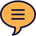 Business And Finance, Message, Chat, interface, chatting, Text Lines, Speech Balloon SandyBrown icon