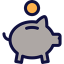 save, Business, Money, Coins, Currency, banking, Business And Finance DarkGray icon