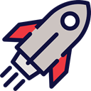 transportation, transport, Space Ship, Rocket Ship, Rocket Launch, Business And Finance MidnightBlue icon