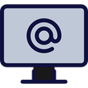television, technology, Computer Screen, Tv Monitor, Arroba, Tv Screen, Computer Monitor, Business And Finance LightSteelBlue icon