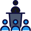 people, Presentation, Conference, men, Users, group, Business And Finance MidnightBlue icon