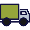 transportation, transport, trucking, Delivery Truck, Cargo Truck, Business And Finance YellowGreen icon
