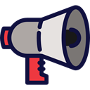 announcement, loudspeaker, technology, shout, protest, announcer, Business And Finance MidnightBlue icon
