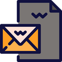 Email, Message, mail, Note, interface, envelopes, letters, Business And Finance Gray icon