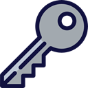 Door Key, Business And Finance, Access, Keys, hotel, Accessibility DarkGray icon