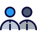 group, people, user, social media, social network Black icon