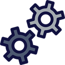 settings, setup, tool, Options, Cogwheels, Business And Finance MidnightBlue icon
