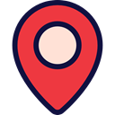 pin, placeholder, map pointer, Maps And Flags, Map Location, Map Point, Map Locator, Business And Finance Crimson icon