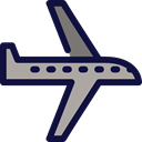 airplane, Business And Finance, Airport, transport, flight, Aeroplane Black icon
