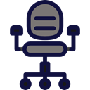 Seat, buildings, desk, Office Material, Comfortable, Chairs MidnightBlue icon