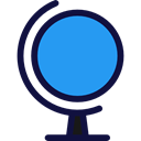education, Geography, Planet Earth, Earth Globe, World Grid, Globe Grid, Business And Finance DodgerBlue icon