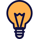 Light bulb, Idea, electricity, technology, Lights, invention SandyBrown icon