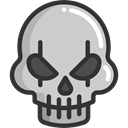 halloween, horror, Terror, spooky, skull, scary, fear LightGray icon