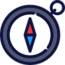 Orientation, north, south, Direction, directional, Cardinal Points MidnightBlue icon