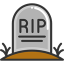 death, halloween, Stone, Cemetery, Rip, tomb, tombstone DarkSlateGray icon