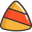 food, Candy, fall, halloween, Dessert, sweet, Cereal, Candies, autumn, Food And Restaurant, Candy Corn Goldenrod icon