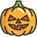 halloween, pumpkin, horror, Terror, spooky, scary, fear Goldenrod icon