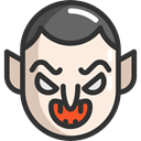 Avatar, halloween, Dracula, vampire, horror, Terror, spooky, scary, fear DarkSlateGray icon