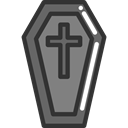 cross, death, halloween, coffin, Box DarkSlateGray icon